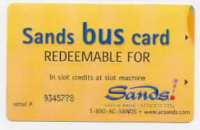 Bus Card. Gold.