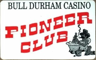 White. Red lettered Pioneer Club.